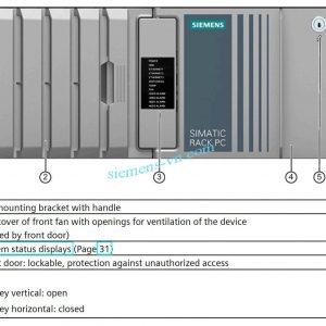 Simatic Ipc547j rack PC Front door is closed